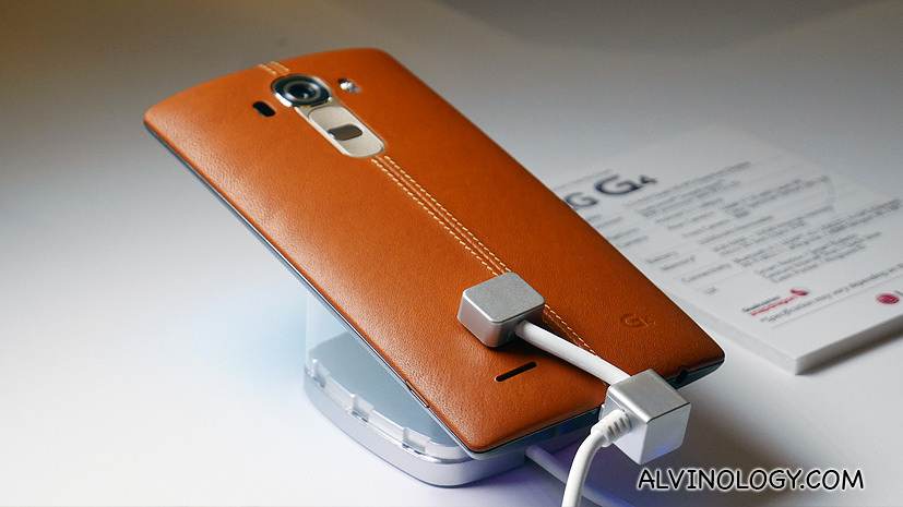 The new LG G4 – available in handcrafted leather
