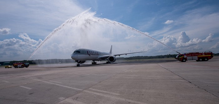 Qatar Airways launches Asia's first A350XWB service to Singapore Changi Airport