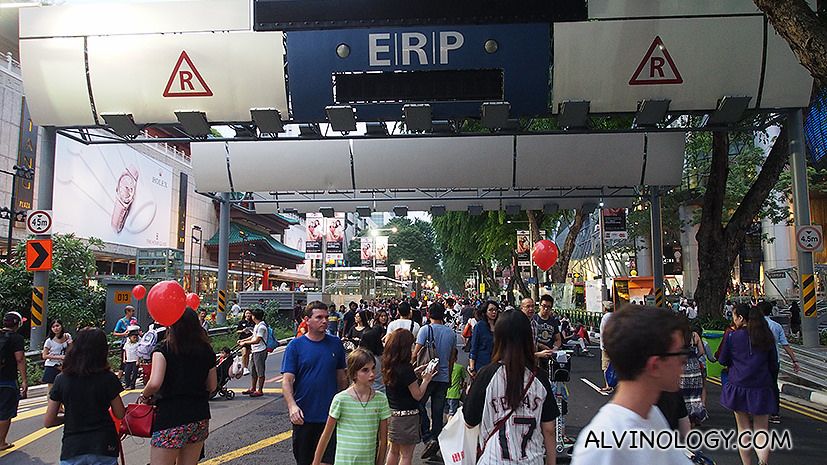 Go for a Walk at Pedestrian Night on Orchard Road