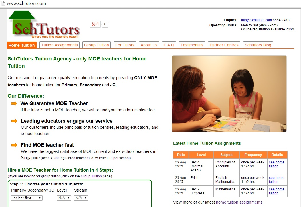 SchTutors: Hire An MOE Teacher For Home Or Group Tuition