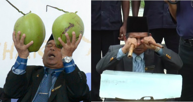 MH370 coconut bomoh back to solve the haze issue - Alvinology