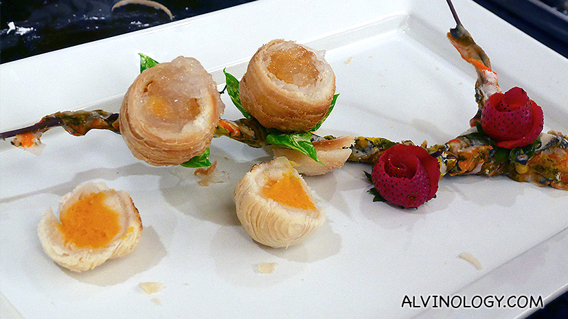 How to make Golden Peony's Sweet Potato Mooncake in Crispy Filo Pastry