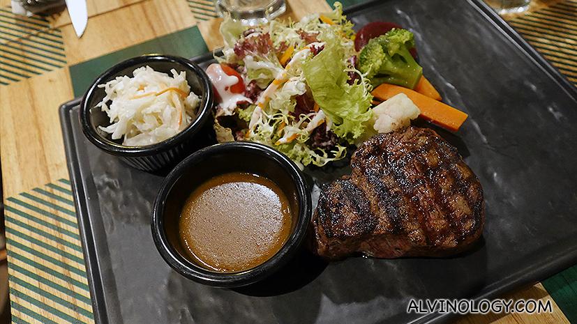 Char-grilled Flambe fire tenderloin Steak