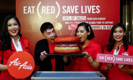 AirAsia and Santan create the INSPI(RED) Burger inflight meal to help end AIDS