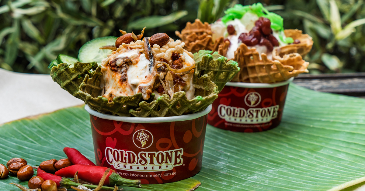 [PROMO INSIDE] Cold Stone - Nasi Lemak and Chendolicious Ice Cream are back in time for Singapore's 54th Birthday - Alvinology