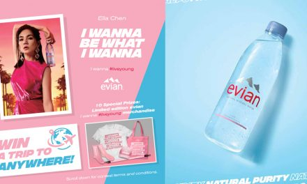 Ella Chen and Evian wants you to win a trip to anywhere in the world