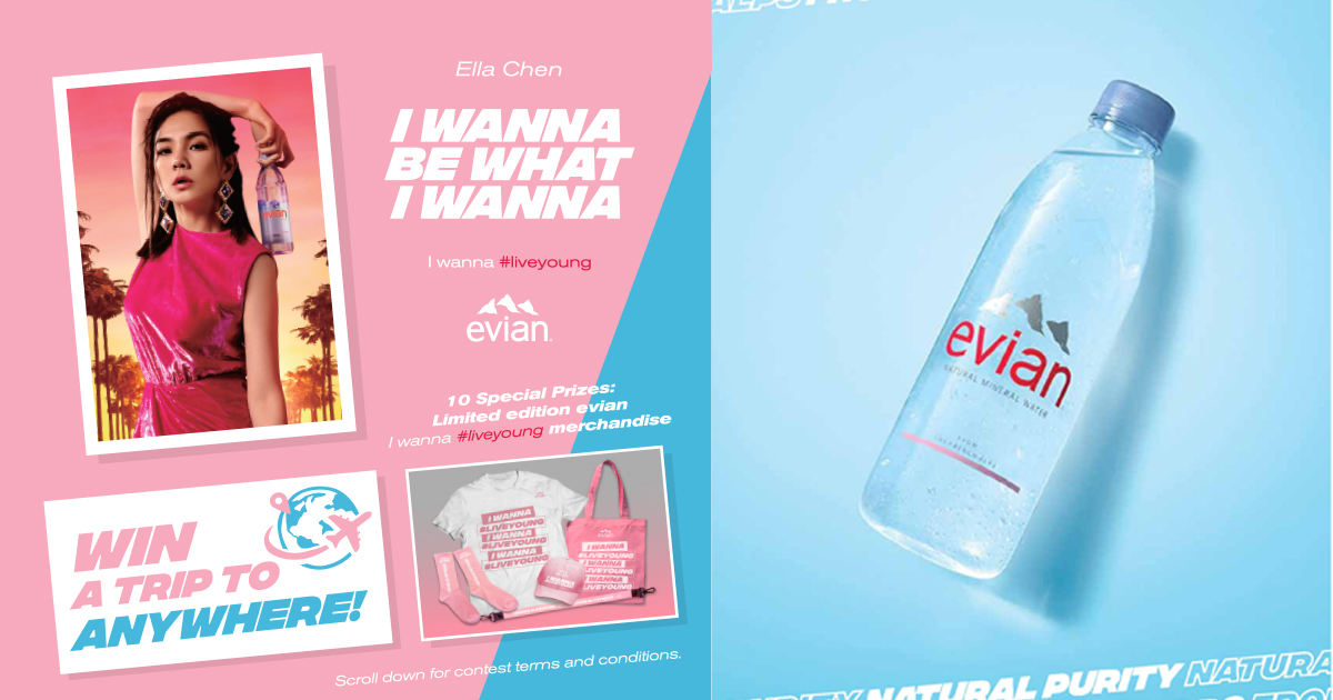 Ella Chen and Evian wants you to win a trip to anywhere in the world - Alvinology