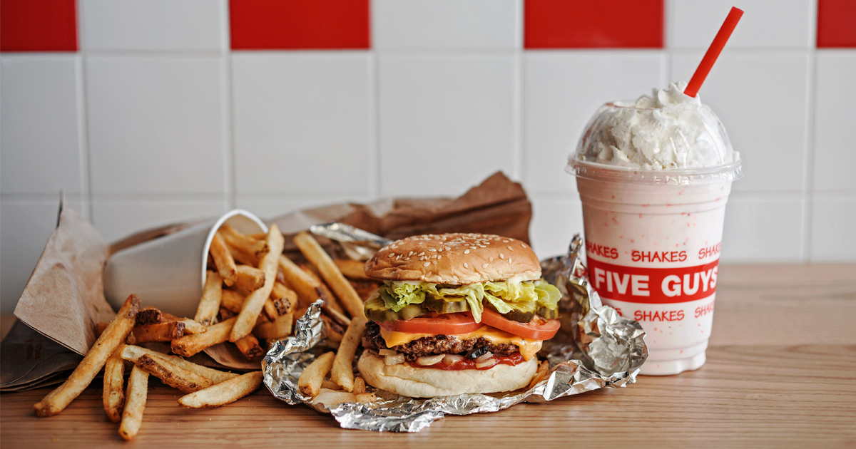 FIVE GUYS - American cult-favourite burger - is opening its first Singapore outlet at Plaza Singapura - Alvinology