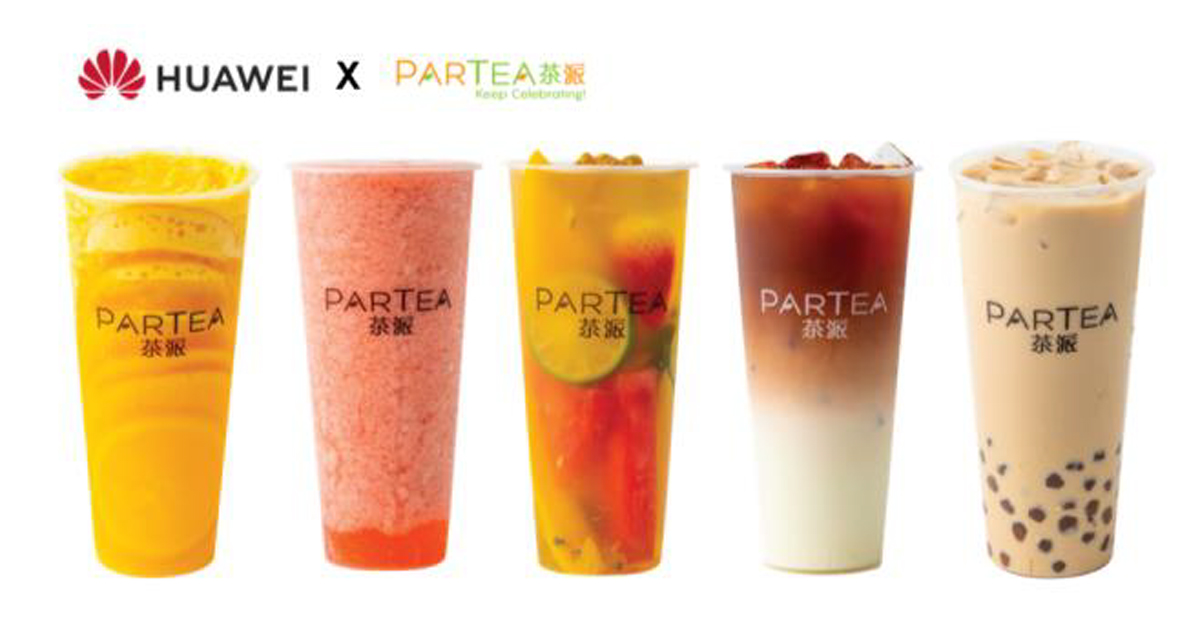 Huawei is giving away free cups of Partea premium tea over two weekends this month starting 5 July - Alvinology