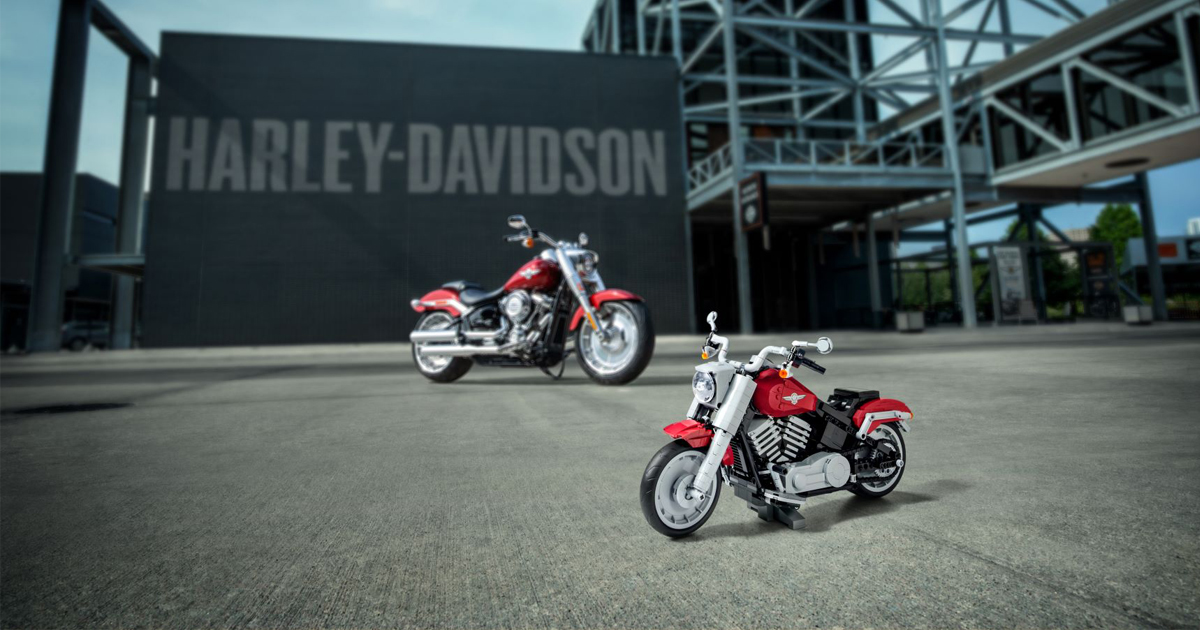 LEGO introduces creator expert Harley-Davidson Fat Boy available at LEGO Stores starting 1 August - Alvinology