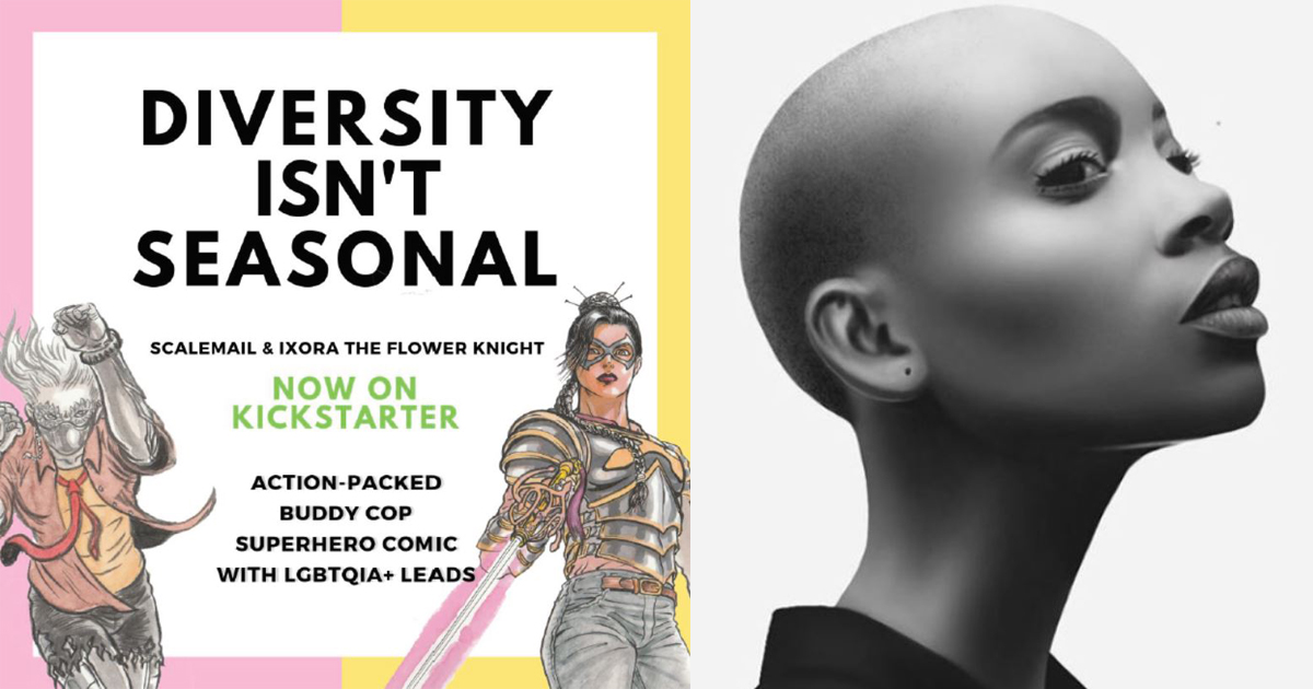 Singaporean Writer launches first local LGBTQ + Superhero Comic – Scalemail & Ixora the Flower Knight – Now on Kickstarter