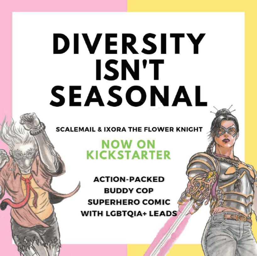 Singaporean Writer launches first local LGBTQ + Superhero Comic – Scalemail & Ixora the Flower Knight – Now on Kickstarter - Alvinology