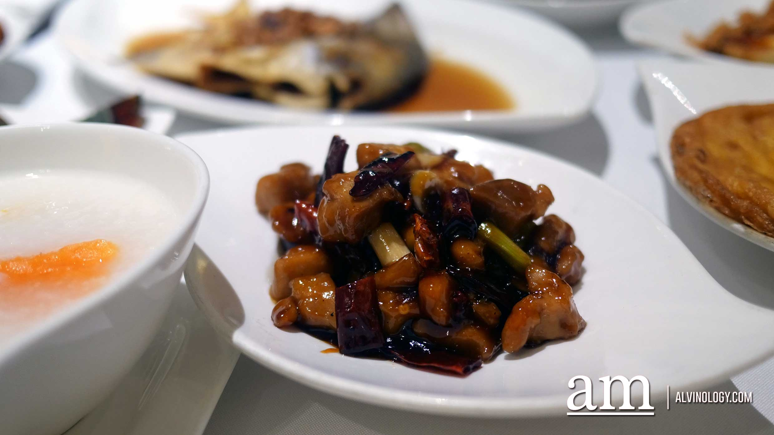 Sautéed Chicken with Dried Chilli 宫宝鸡丁 ($14++)