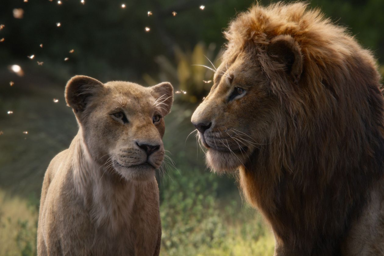 Nala (voiced by Beyoncé) and Simba (voiced by Donald Glover) PHOTO: DISNEY