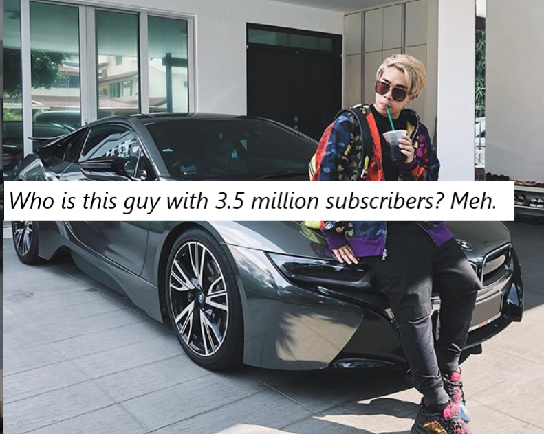 Singapore YouTuber Jianhao Tan has a new car and haters are getting jealous online