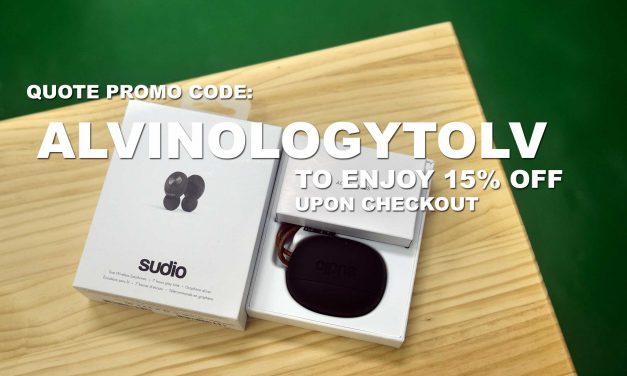 [GIVEAWAY + PROMO CODE] Sudio's TOLV wireless earphones