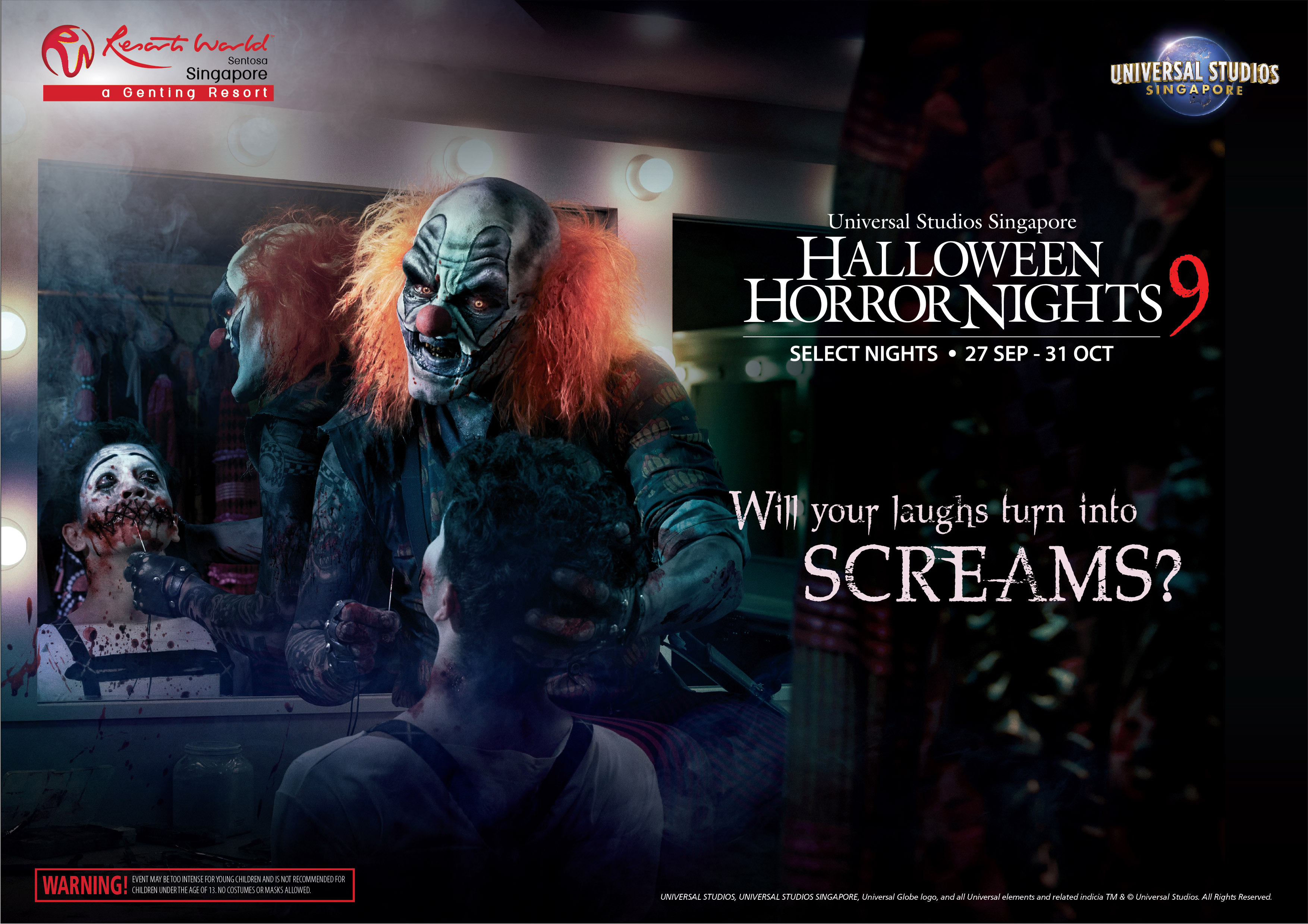 Halloween is coming early at Universal Studios Singapore - First-Ever Haunted House by Renowned Thai Filmmakers - Alvinology