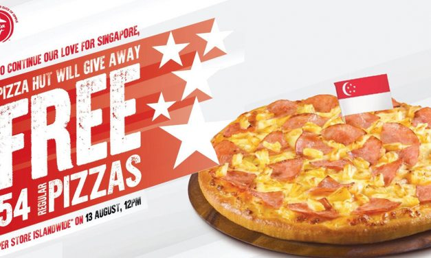 [FREE PIZZA] Pizza Hut is Giving Away 54 FREE PIZZAS per store islandwide on 13 August
