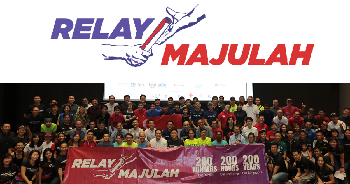 Relay Majulah - 200 runners participate in a 2,000KM relay within 200 hours challenge - Alvinology