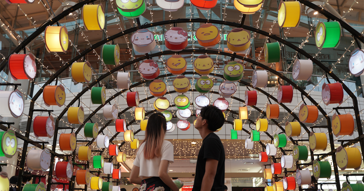 Celebrate the Mid-Autumn Festival with your favourite Sanrio characters at Jurong Point