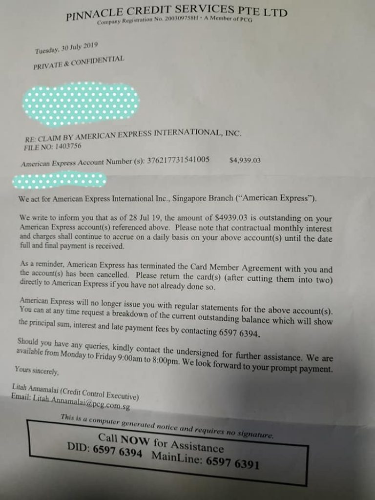 AMEX says Singaporean man owed them $5000, but he proves them wrong with 11-year-old receipt - Alvinology