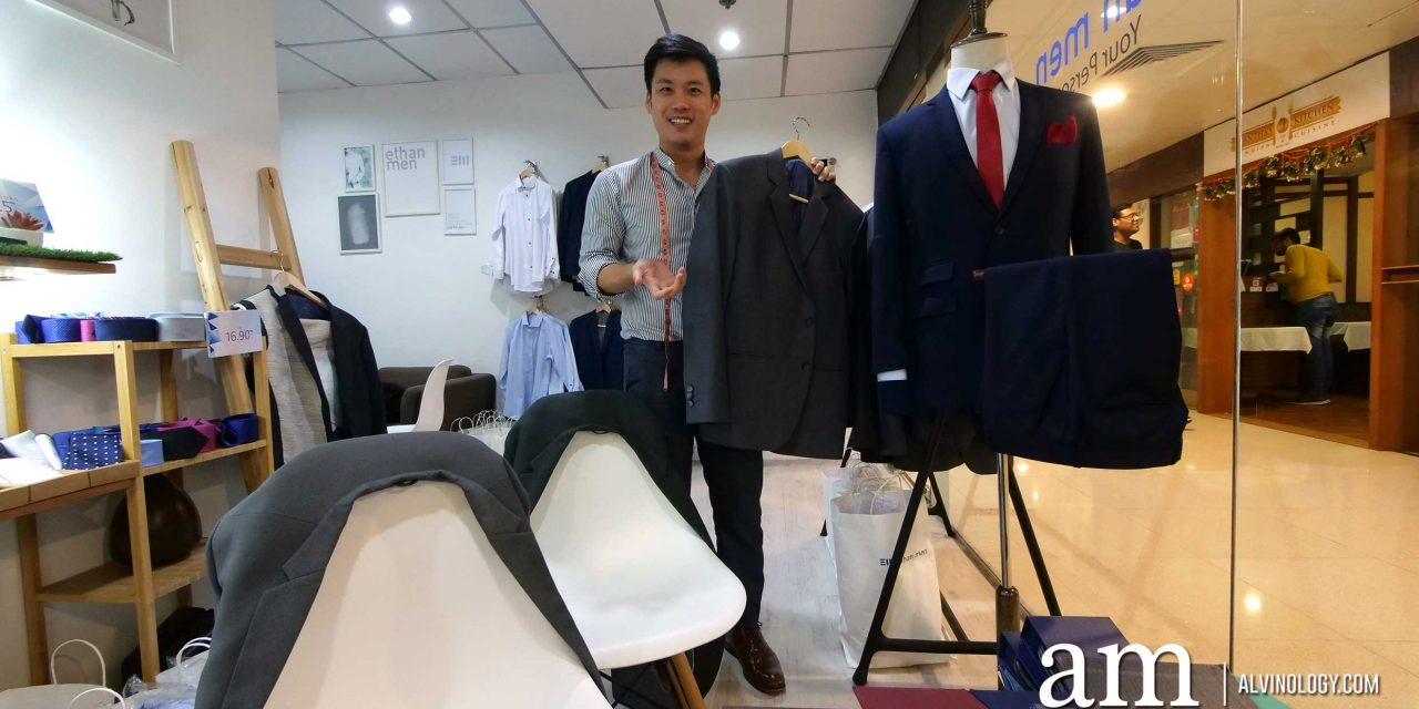 [PROMO CODE INSIDE] Looking for a quality custom-tailor in Singapore with a reasonable rate? Check out ethan men at International Plaza