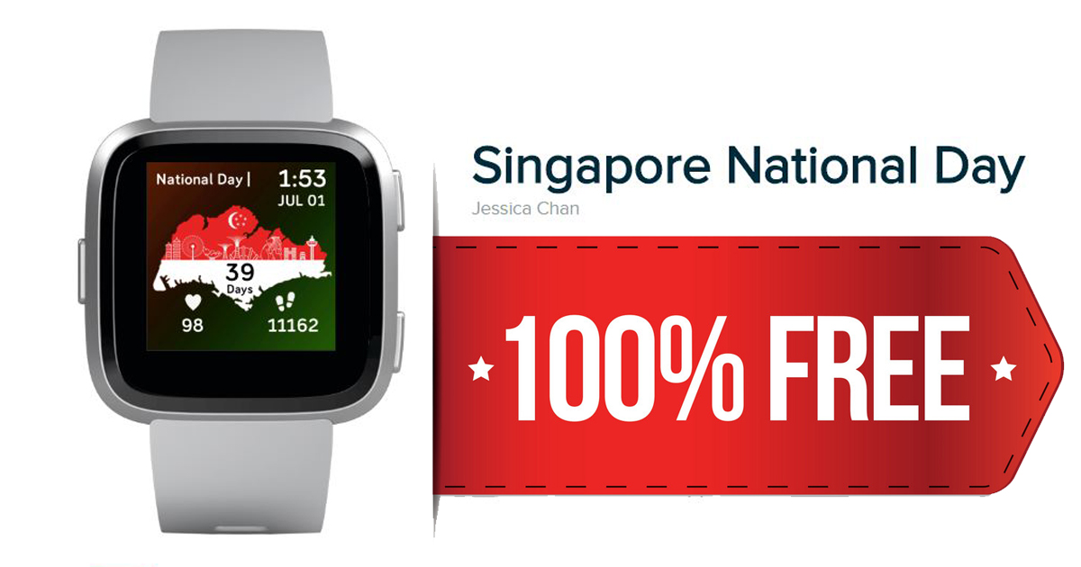 [PROMO CODE INSIDE] Attention Fitbit Users: You can now download the Singapore National clockface for FREE