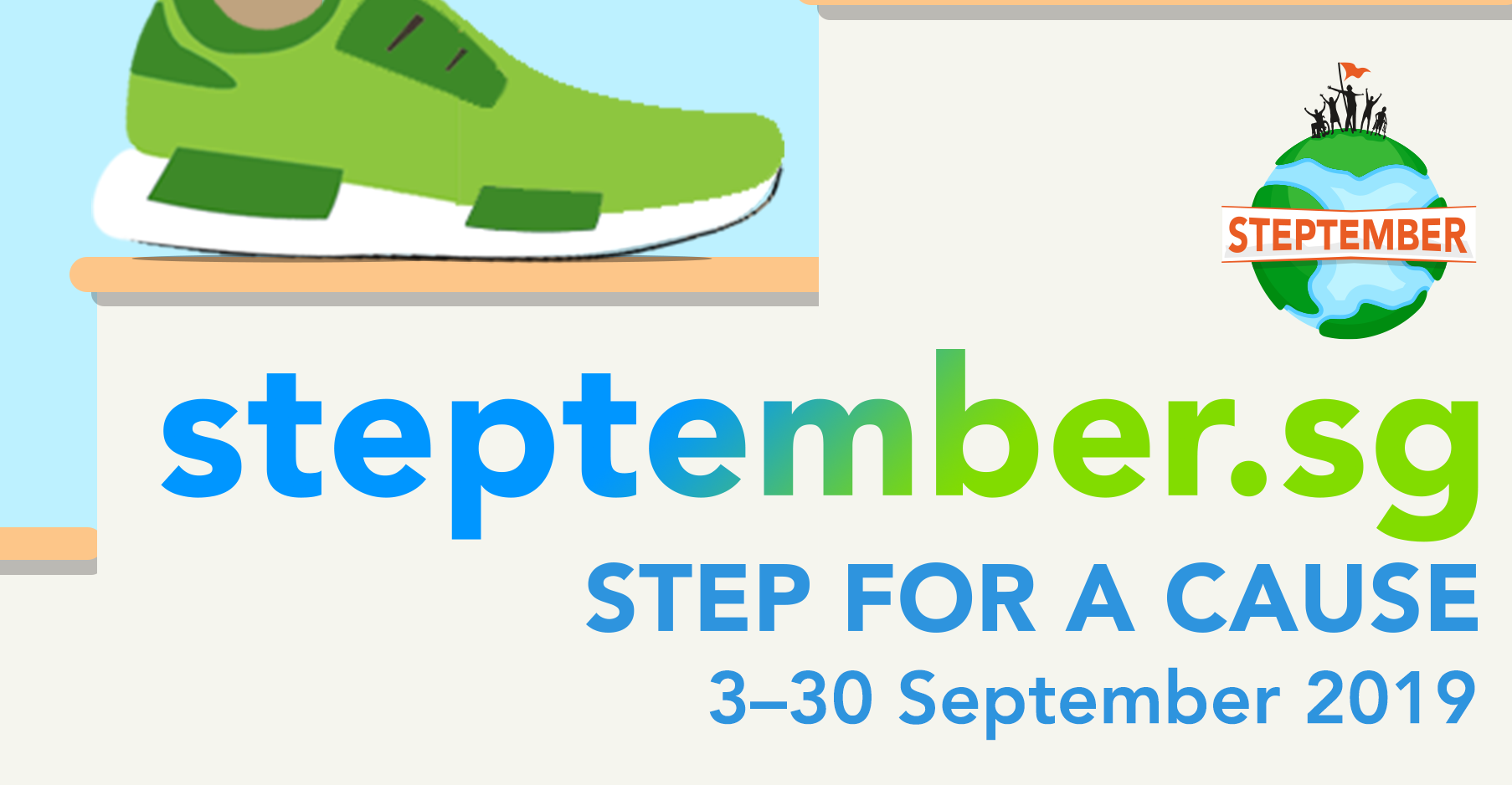 Step for a cause with Cerebral Palsy Alliance Singapore this Steptember - Alvinology