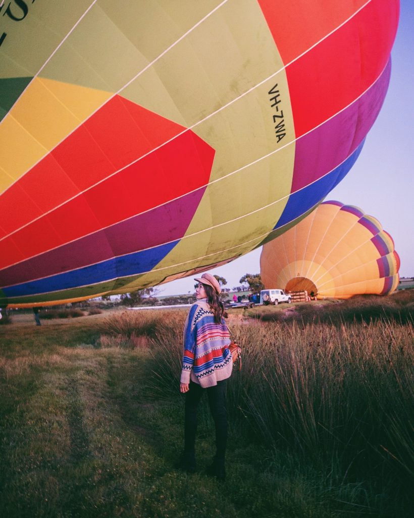 Go on a hot air balloon ride at Avon Valley National Park.