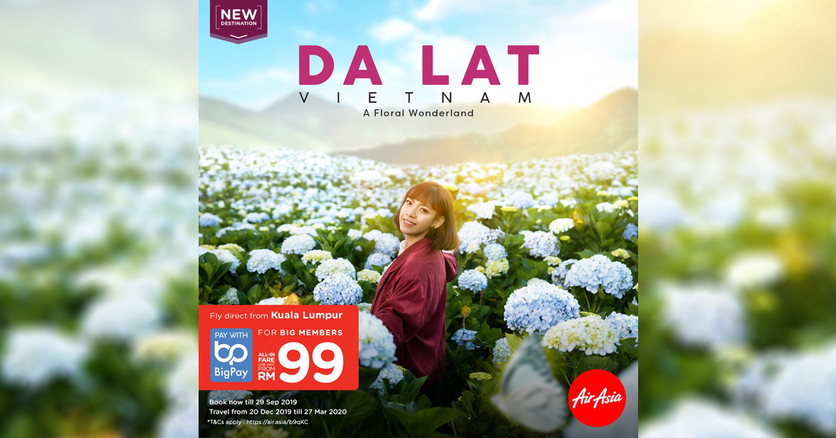 [PROMO INSIDE] You can now fly directly from Kuala Lumpur to the City of Eternal Spring – Da Lat via AirAsia