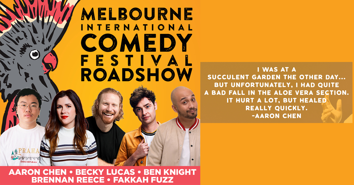 The Melbourne International Comedy Festival Roadshow is taking a stop in Singapore for a week