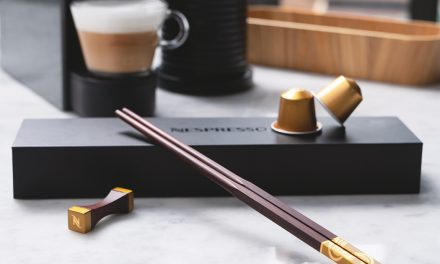 Recycle your used Nespresso capsule for a Limited-Edition Nespresso chopstick, and save mother nature of course