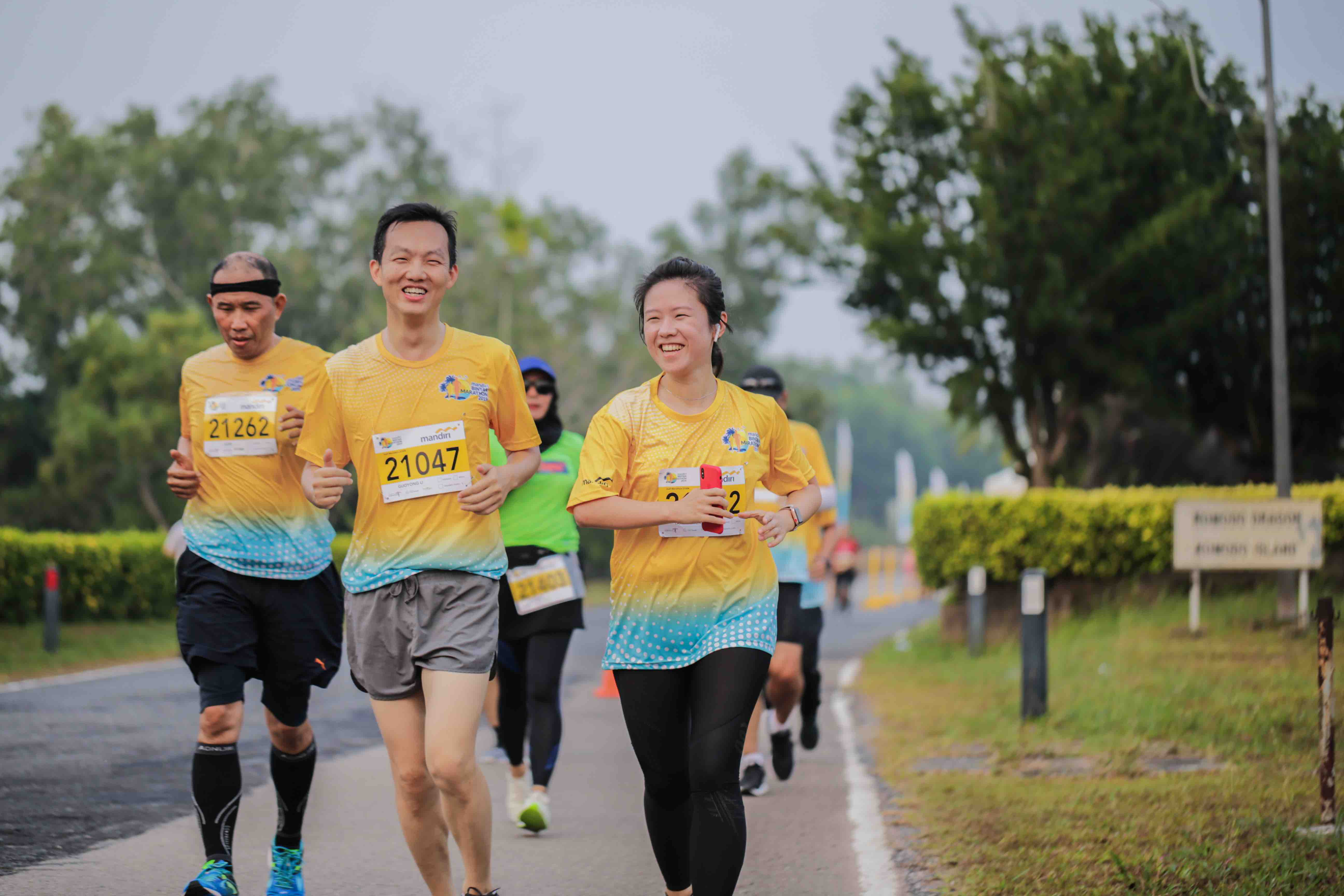 Participants from Singapore at the Mandiri Bintan Marathon, held in Bintan Island on 7 and 8 September 2019