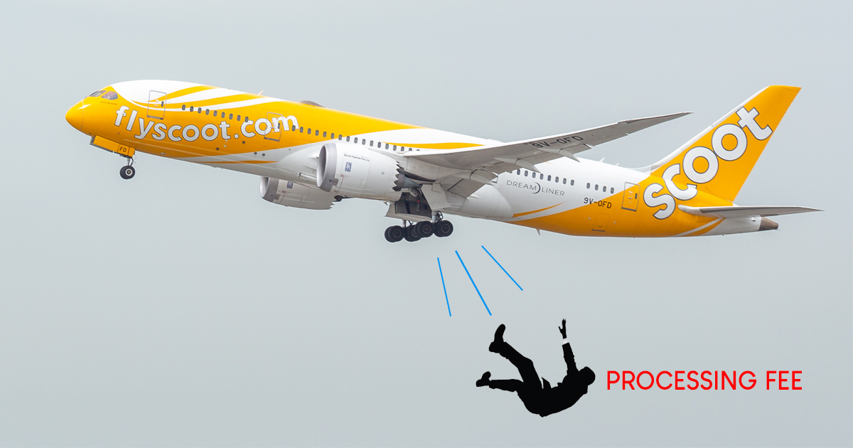No more Payment Processing Fees when you book flights with Scoot