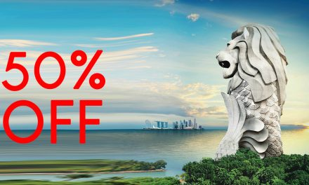 Sentosa Merlion tickets is down to 50% off with the Magic Lights show happening all month long