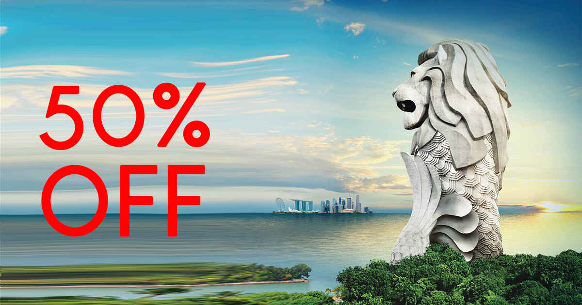 Sentosa Merlion tickets is down to 50% off with the Magic Lights show happening all month long - Alvinology