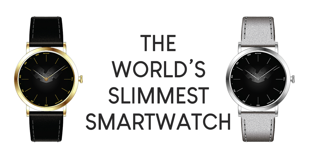 The world's slimmest smart analog watch is here – 9mm-slim equipped with all the smartwatch functions