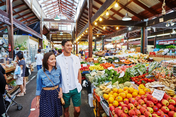 Load your shopping bags with fresh produce from Fremantle Markets.
