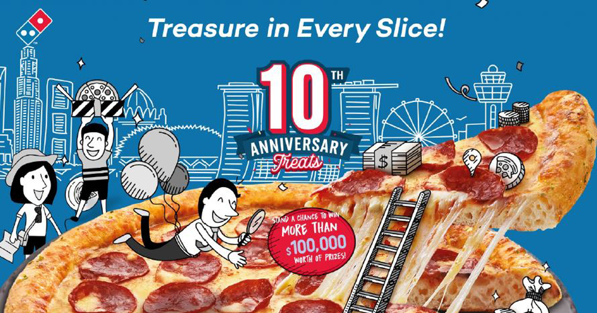 Domino's Pizza Singapore is turning 10 and will be rolling out exciting promotions this October – see here