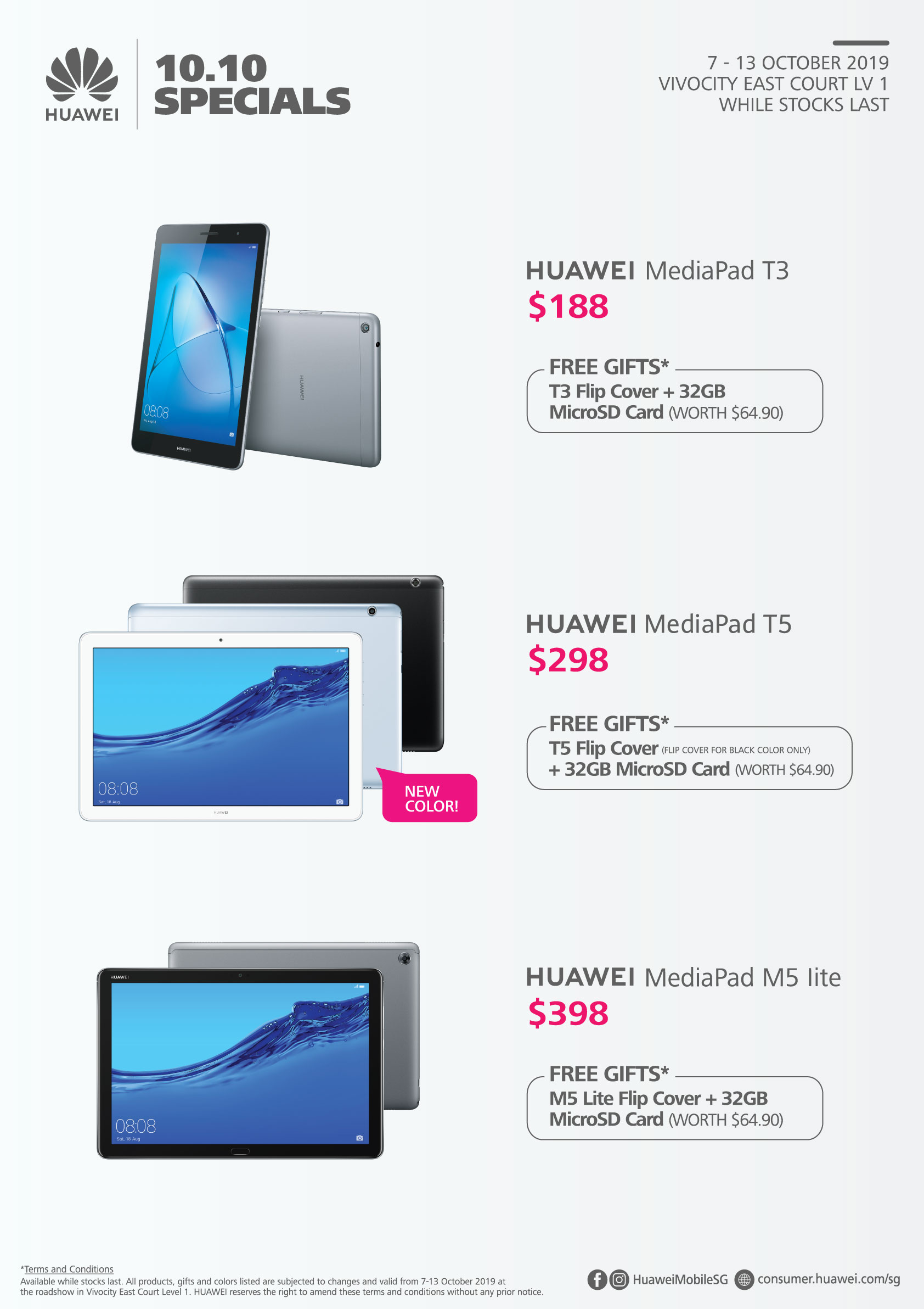 Get up to 50% off HUAWEI products and receive exclusive gift bundles at VivoCity this 10 October – Attack! - Alvinology