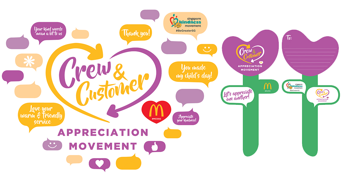 McDonald's Crew-Customer Appreciation Movement – customers get a Tulip Appreciation Cards from the crew