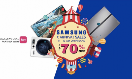 Don't miss the Largest Samsung Carnival Sale this 11-13 October – up to 70% OFF