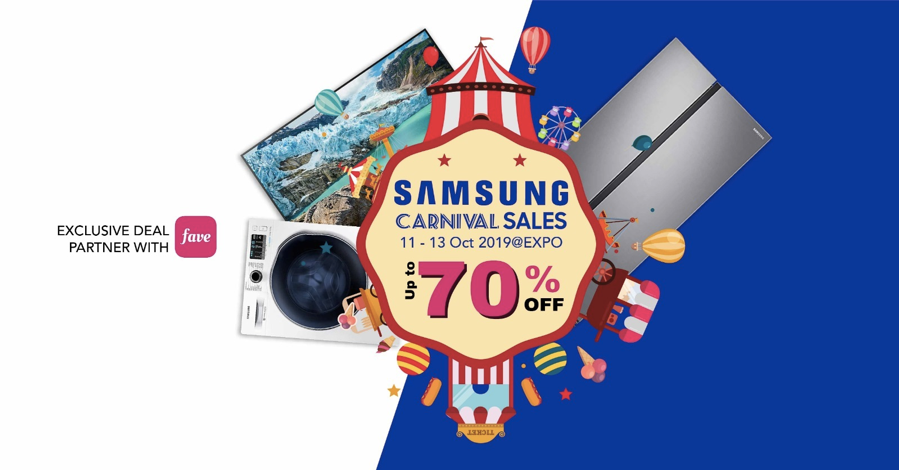 Don't miss the Largest Samsung Carnival Sale this 11-13 October – up to 70% OFF - Alvinology
