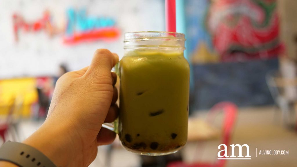 Thai-style Green Tea with Pearl