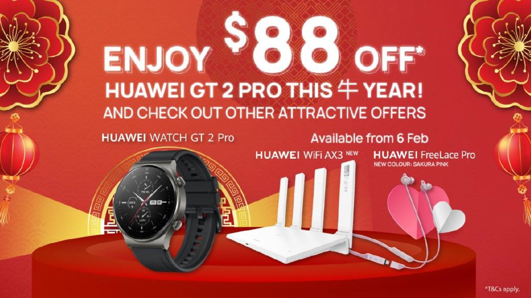 [SALE] Celebrate Valentine's Day with these Huawei Deals, enjoy up to S$88 OFF on Huawei products! - Alvinology