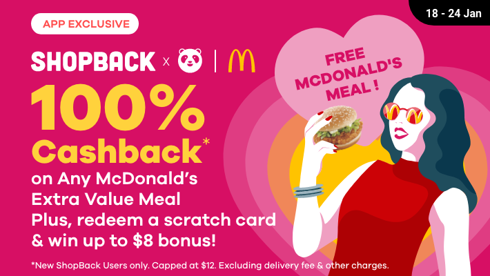 [MARK THE DATE] Get 100% cashback on any McDonald's Extra Value Meal this 18 January – here's how - Alvinology