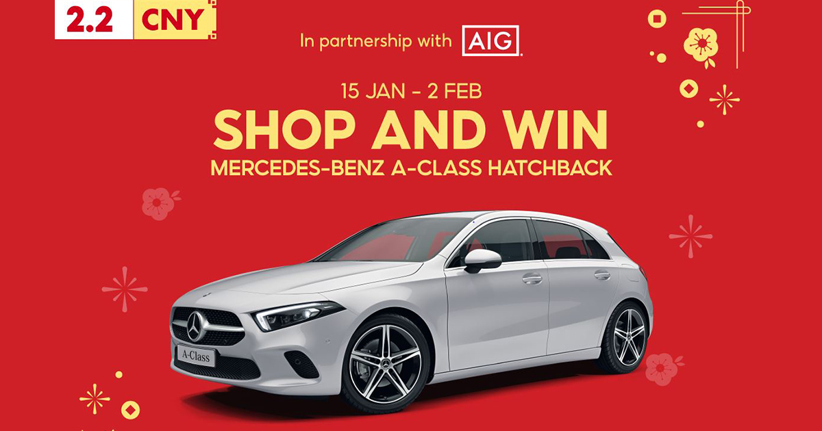 [LUCKY DRAW] Win a Mercedez-Benz A-Class Hatchback during Shopee 2.2 CNY Sale! Here's how to qualify and it's very easy – - Alvinology