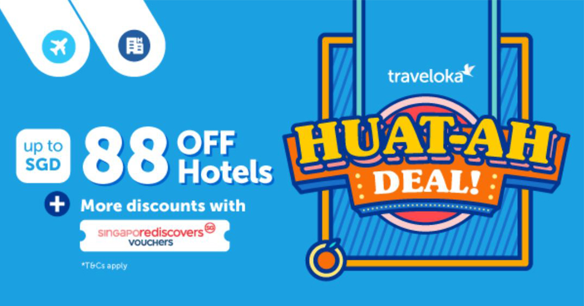 Traveloka launches HUAT-AH deals – get up to S$88 discount and more perks when combined with SingapoRediscovers vouchers! - Alvinology