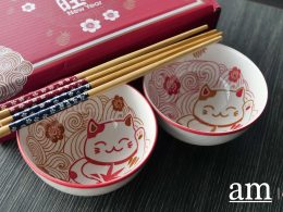 CNY at City Square Mall - Redeem these Cute Cat bowls and Chopsticks sets and more when you shop - Alvinology