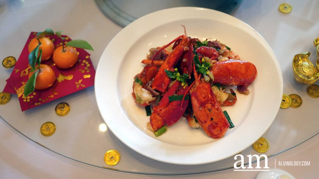 Wok-Fried Boston Lobster with Preserved Duck and Ginger Spring Onion